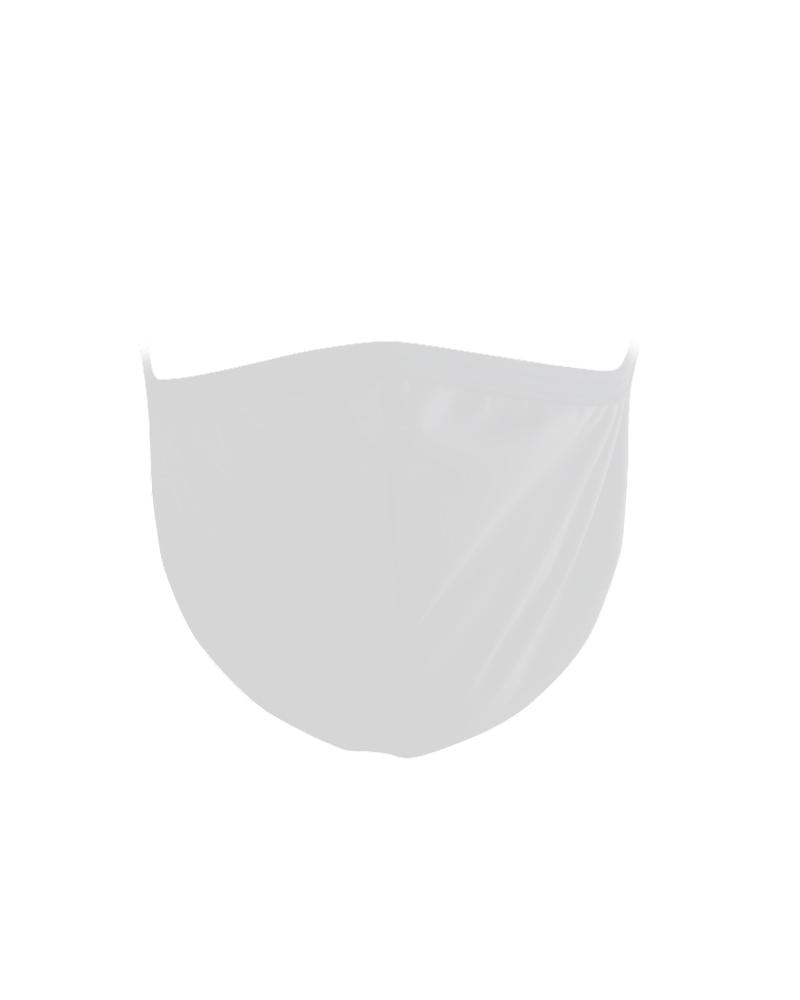 3 Mascherine ad uso civile lavabile colore Bianco