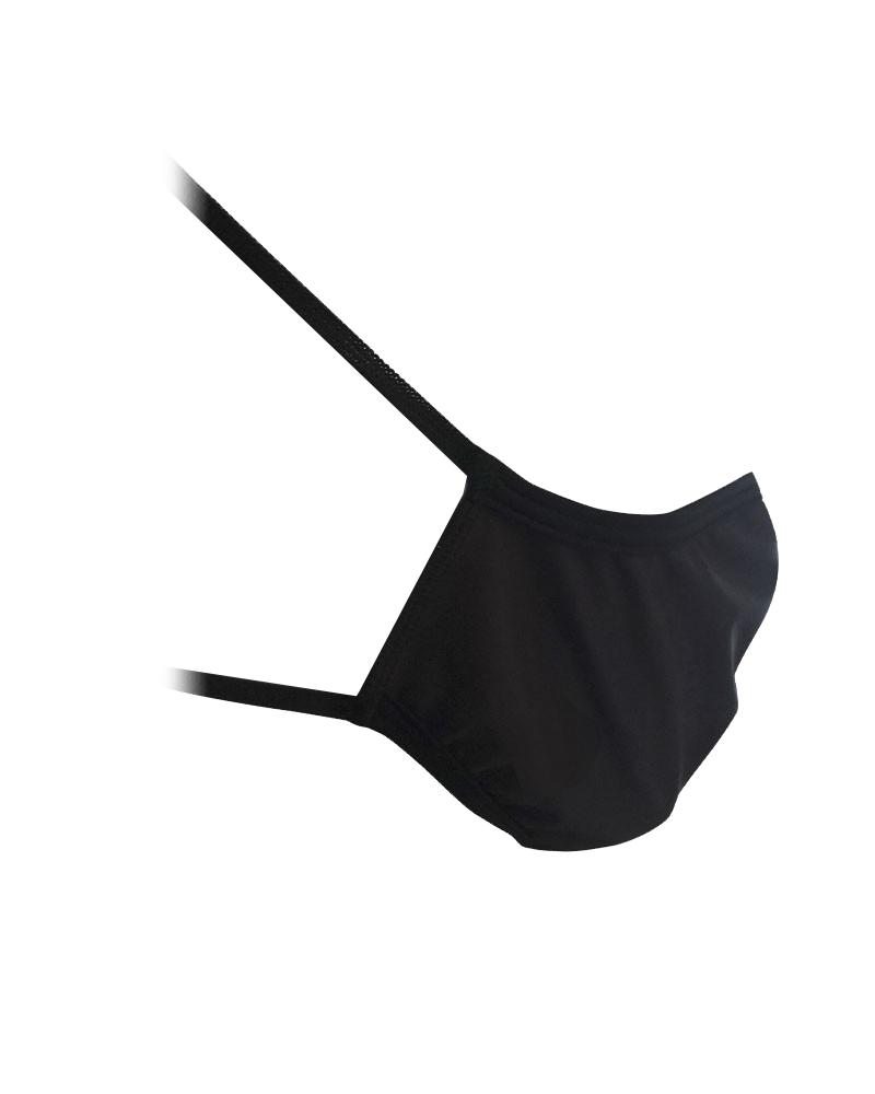 3 Mascherine ad uso civile lavabile colore Nero